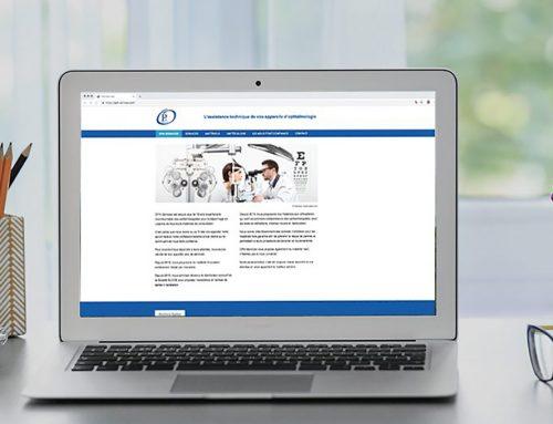 Site web matériel ophtalmologique