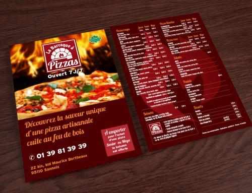 Flyer pour une pizzeria